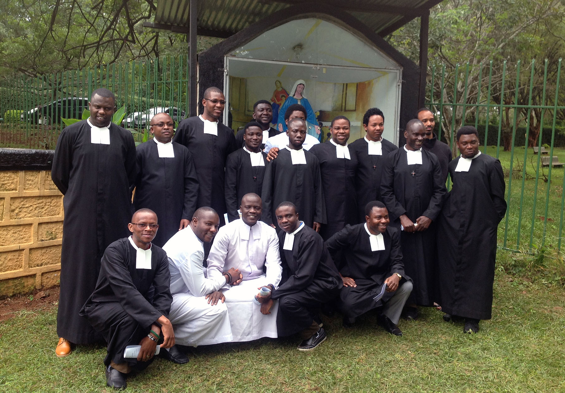 Scholastics with the Newly Professed Bros
